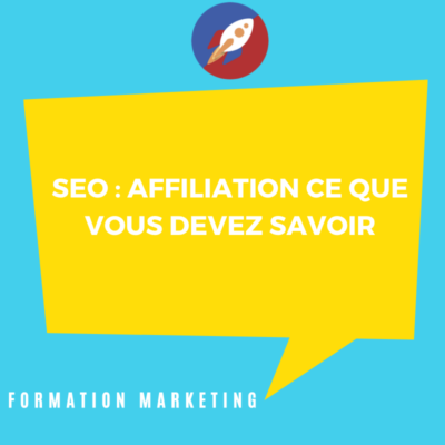 Affiliation en formation marketing